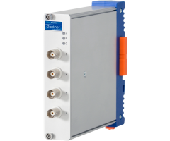 I/O module with 4 analog inputs for IEPE and voltage ±100...