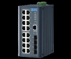 16GE PoE + 4G SFP Managed Switch w/ Wide Temp.